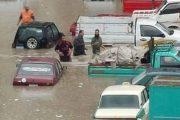 السيول تجتاح قرية الحاجر بساقلتة ..  سوهاج .. وتأخر معدات الرى يؤجل عملية الإنقاذ