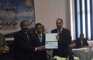 جامعة أسوان تكرم عبد الرحمن عمران مبتكر مصر الأول