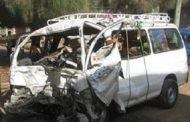 عاجل تصادم سيارة ميكروباص باخري ووفاة خمسة بطريق قنا القصير