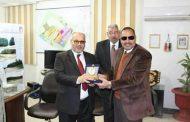 رئيس جامعة الازهر في ضيافة رئيس جهاز مدينة السادات..