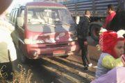بالصور_حادث مروع بالقرب من عزبة6 بدمياط دون اصابات بعناية من الله.