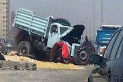 حادث مروع ووفاة رجل وبن اخيه علي طريق بلبيس شرقية والسبب صادم.....