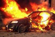 اندلاع حريق بسيارة ملاكي ناحية قرية هرية رزنة - شرقية