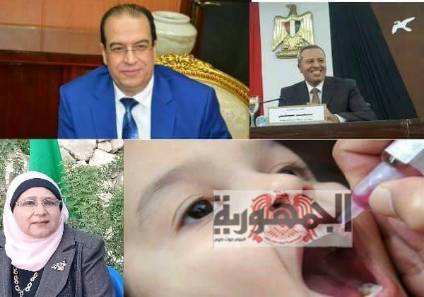 بالصور .. سحر لطفي رئيس مدينة جمصه تشارك حملة تطعيم ضد مرض شلل الأطفال