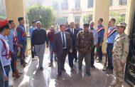 عبد المنعم . يتابع خطة إخلاء مدرسة جمال عبد الناصر الثانوية بالفيوم