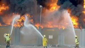 نشوب حريق بمصنع سيراميك بالعاشر من رمضان - شرقية