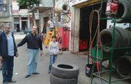 بالصور ..إزالة الحواجز الحديدية والخرسانية والكاوتش حي وسط اسكندرية