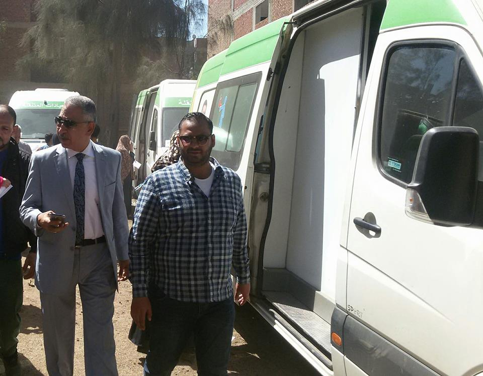 برعاية زايد ...بدء فاعليات القافلة الطبية العلاجية بقرية ميت حبيب بسمنود