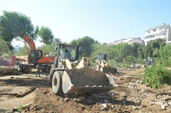 حملة مكبرة لإزالة التعديات على الأراضي الزراعية وأملاك الدولة ونهر النيل في قنا