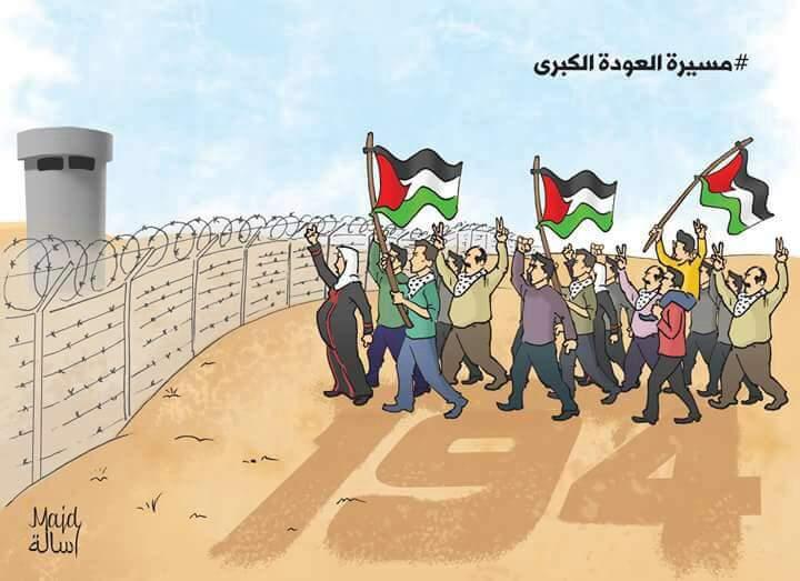 هستيريا في سلوك العدو الصهيوني حول #مسيرة_العودة_الكبرى