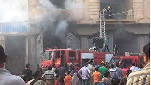 الحماية المدنية تسيطر على حريق بمصنع للصباغة والطباعة والتجهيز بالعاشر من رمضان