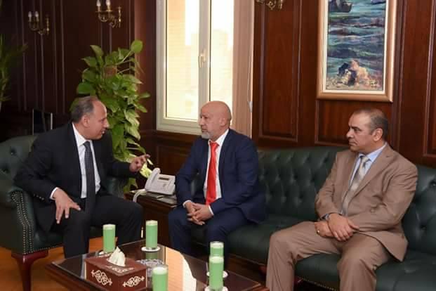 سلطان يستقبل قنصل عام ليبيا الجديد بالإسكندرية
