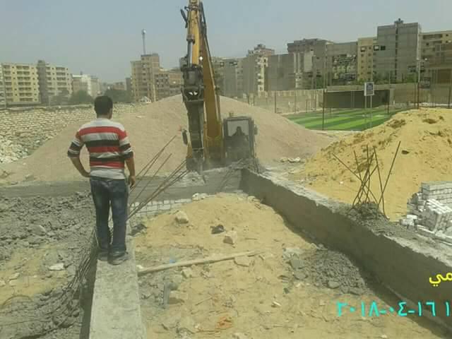 إزالة أساسات وأعمدة دور ارضي مخافة بحى العجمي..... بالاسكندرية