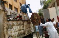 استمرار حملات النظافة ورفع الاشغالات بشوارع وميادين حي غرب بسوهاج