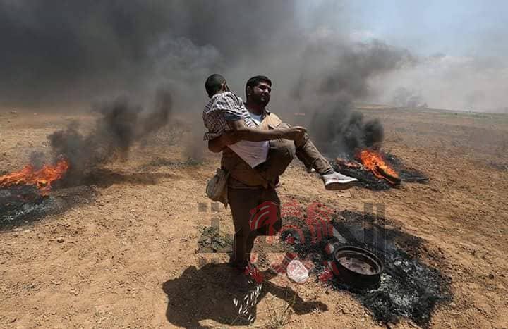 ارتفاع عدد الشهداء الفلسطينيين خلال مواجهات مع الاحتلال عند حدود غزة الى 28
