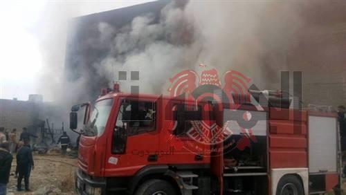 حريق يلتهم 3 منازل في سوهاج والسبب .....