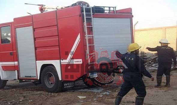 الحماية المدنية تسيطر على حريق بالمجاوره 61 بالعاشر من رمضان