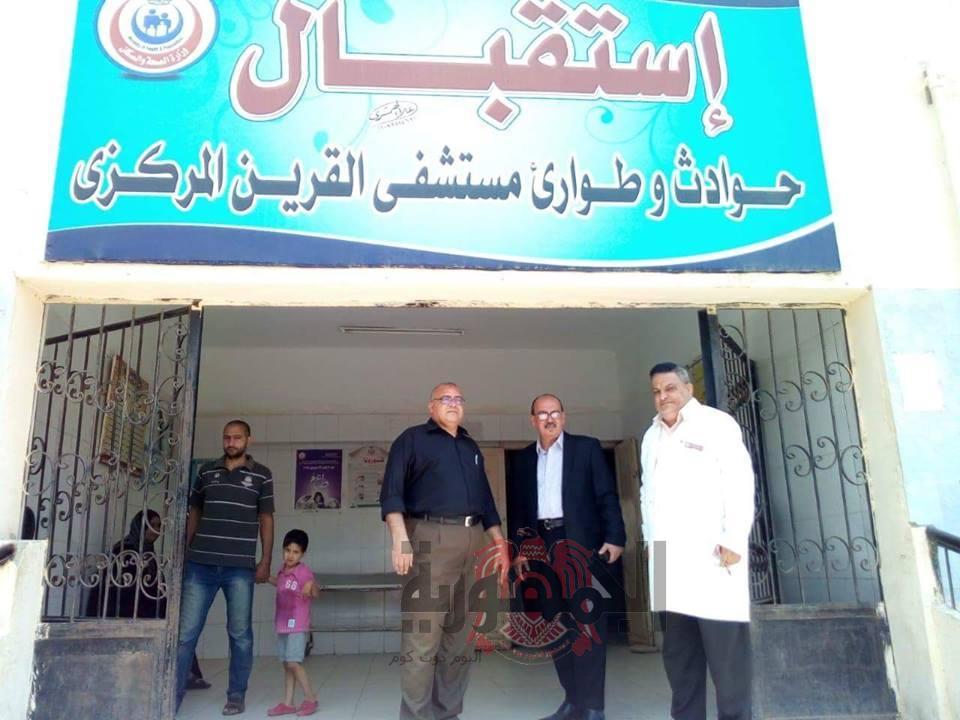 وكيل وزارة الصحة يكلف بالمرور علي مستشفيات أبو حماد والقرين والرمد