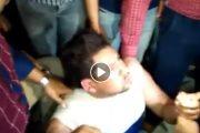 شاهد بالفيديو ..لحظة القبض على سارق طفلة ورد فعله ببلقاس دقهلية..